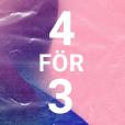 4 för 3
